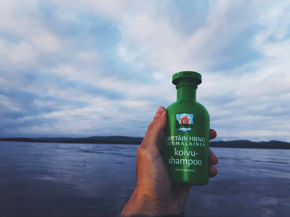 erittain_hieno_suomalainen_shampoo_koivu_koivushampoo_vuokatti_sotkamo_visitfinland_finnishmoments_suomi_jarvimaisema_liveauthentic_kainuu_puhdas