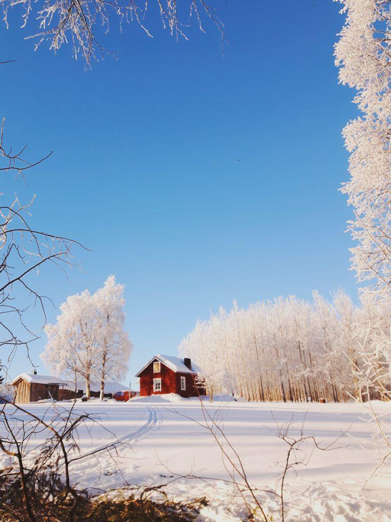 kevat hanki aurinko maaseutu springtime in finland countryside
